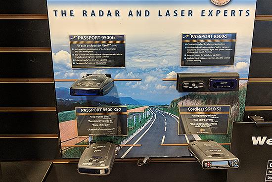 K40 radar and laser detecors.